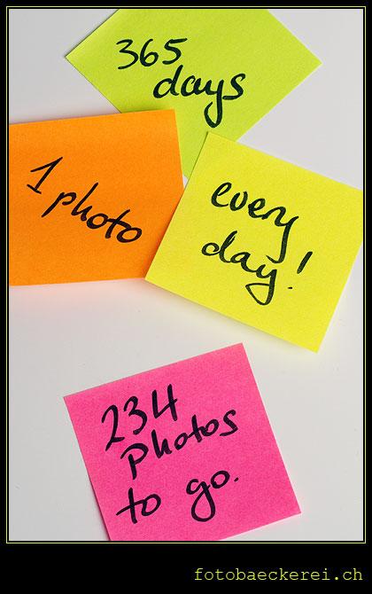 Tag 131 Projekt 365 farbige Post-Its Text