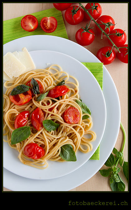 Tag 137 Projekt 365 Spaghetti Kirschtomaten