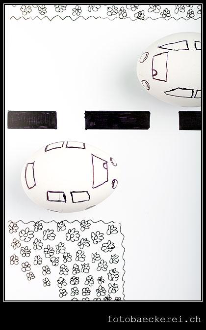 Tag 176 Projekt 365 Auto Ei Strasse gemalt