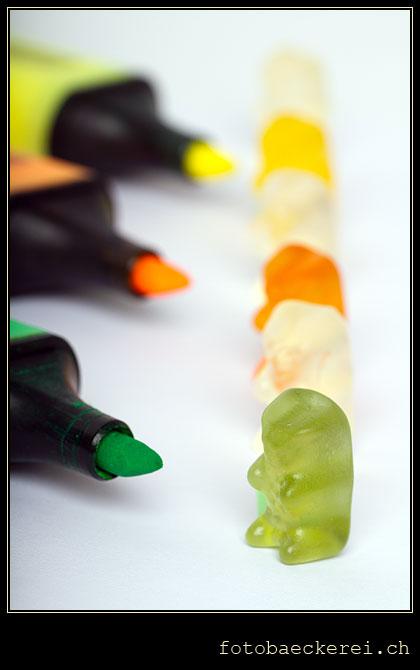 Tag 181 Projekt 365 Gummibaer Farbe Stift