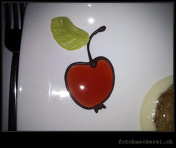 Tag 195 Projekt 365 Apfel Dekoration Nachspeise