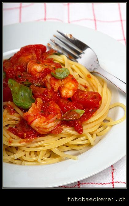 Tag 263 Projekt 365 shrimp-Tomaten-Spaghetti