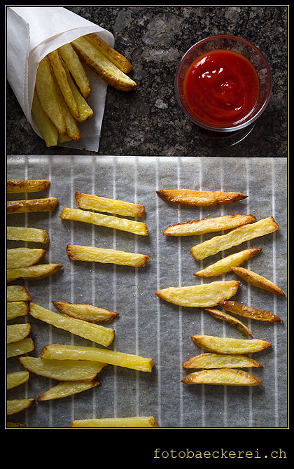 selbstgemacht Pommes Frites Backofen