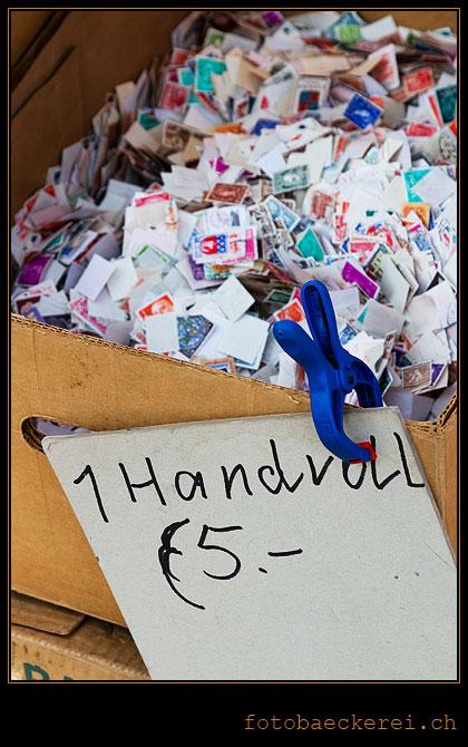 Tag 289 Projekt 365 Handvoll Briefmarken.