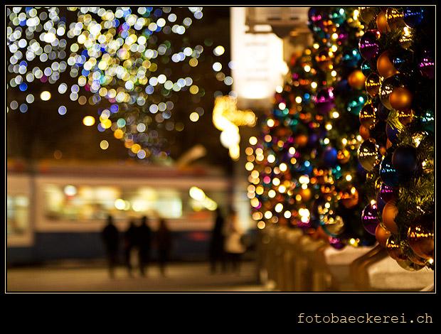 Tag 304 Projekt 365 Paradeplatz/Bahnhofstrasse, Zuerich, Weihnachtsbeleuchtung, Lucy
