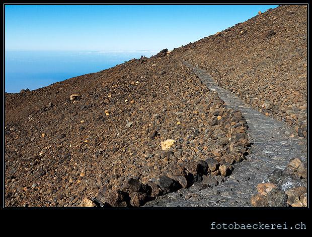 Teide Weg zum Pico Viejo Lookout