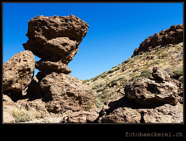 Felsformation am weg zum Sombrero de Chasna, Teneriffa