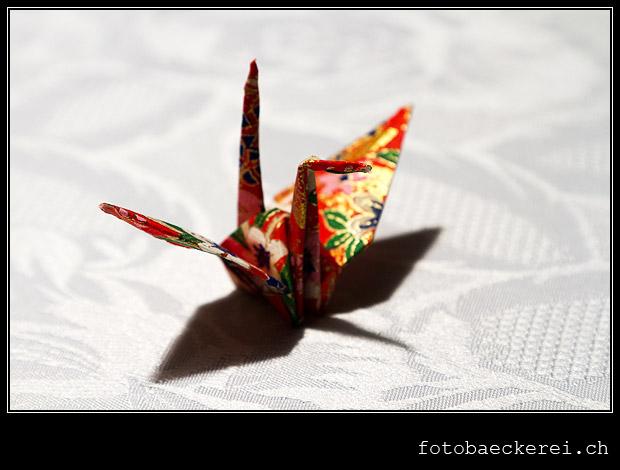 Tag 329 Projekt 365 Origami Kranich