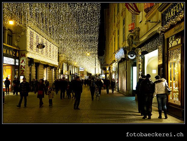 Tag 333 Projekt 365 Kohlmakrt Weihnachtsbeleuchtung Wien, Oesterreich
