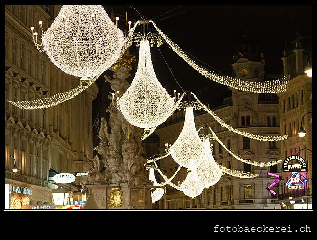 WEihnachtsluster, WEihnachtsbeleuchtung, Graben, Wien, OEsterreich