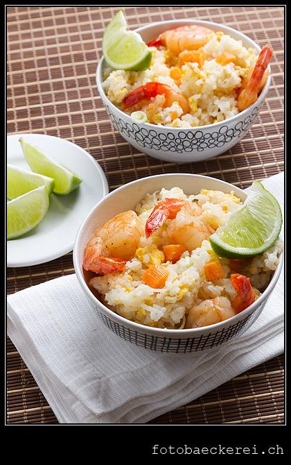Tag 365 Projekt 365 gebratener Reis mit Shrimps nach thailaendischer Art